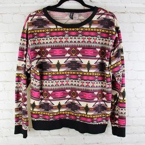 Divided Aztec Lightweight Sweatshirt